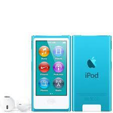 7th Generation 16GB Apple iPod Nano Blue – Like new , No Retail Packaging