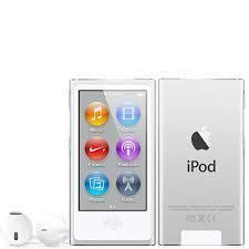 7th Generation 16GB Apple iPod Nano Silver, New in Plain White Box!